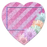 flower puzzle - Jigsaw Puzzle (Heart)