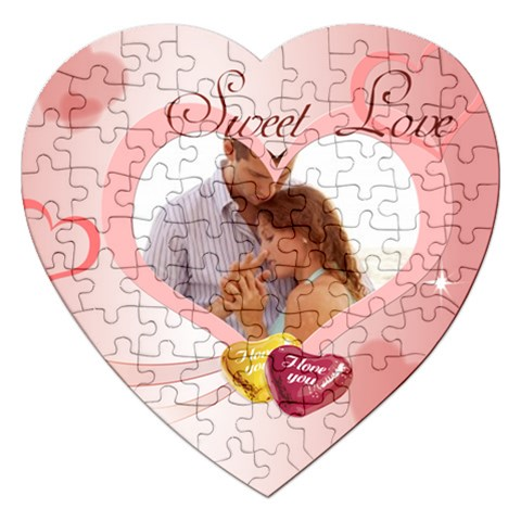 Love By Wood Johnson   Jigsaw Puzzle (heart)   6z8tn5o9t4qc   Www Artscow Com Front