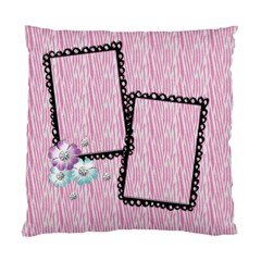 Pink Zebra Pillow By Mikki   Standard Cushion Case (two Sides)   Jmwgs8yzuflg   Www Artscow Com Front