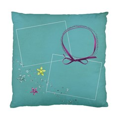 Glitter & Flowers Pillow By Mikki   Standard Cushion Case (two Sides)   0yqh3mxhrtxw   Www Artscow Com Back