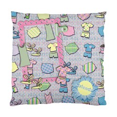 Bunny Slippers & Pajamas/friends  Pillow By Mikki   Standard Cushion Case (two Sides)   Tlhbp8ve1q3h   Www Artscow Com Front