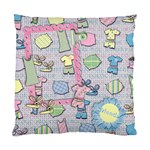 Bunny slippers & pajamas/friends- pillow - Standard Cushion Case (Two Sides)