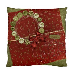 Holiday Wreath Pillow By Mikki   Standard Cushion Case (two Sides)   Gbptha6huavx   Www Artscow Com Front