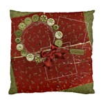 Holiday wreath-pillow - Standard Cushion Case (Two Sides)