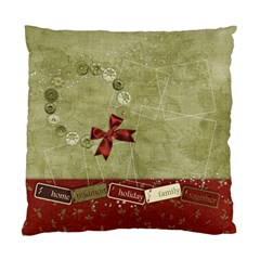 Holiday Wreath Pillow By Mikki   Standard Cushion Case (two Sides)   Gbptha6huavx   Www Artscow Com Back