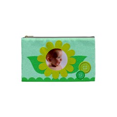 Green And Yellow     Custom Cosmetic Bag By Carmensita   Cosmetic Bag (small)   2c8g52uscx4v   Www Artscow Com Front