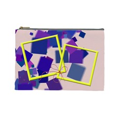 Blue And Yellow   Cosmetic Bag (large)   By Carmensita   Cosmetic Bag (large)   W6gyk2o8szi1   Www Artscow Com Front