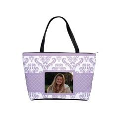 Lavender Love Classic Shoulder Bag By Klh   Classic Shoulder Handbag   O32fv6ih5rz3   Www Artscow Com Front
