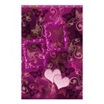 Pink butterfly shower curtain with frill frame hearts - Shower Curtain 48  x 72  (Small)