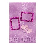 Purple Lavander butterfly shower curtain with frill frame hearts - Shower Curtain 48  x 72  (Small)