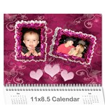 Butterfly multi colored frilly frame 12 month calendar - Wall Calendar 11 x 8.5 (12-Months)