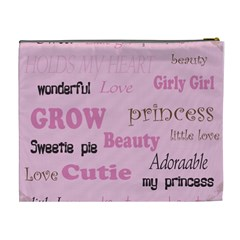 Girly Princess Xl Cosmetic Bag By Danielle Christiansen   Cosmetic Bag (xl)   Lqcttglfehk2   Www Artscow Com Back