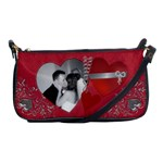 Red Hot Hearts Shoulder Clutch Handbag - Shoulder Clutch Bag
