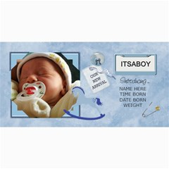 Baby Boy Announcement Cards By Lil    4  X 8  Photo Cards   Hire68ajvjn1   Www Artscow Com 8 x4 Photo Card - 9