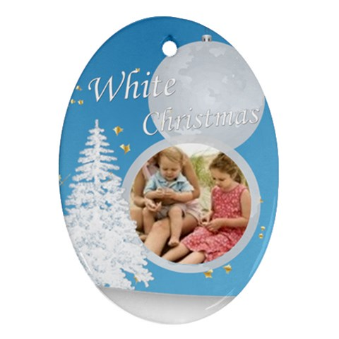 Christmas By Joely   Ornament (oval)   Kigfcdxexgmv   Www Artscow Com Front