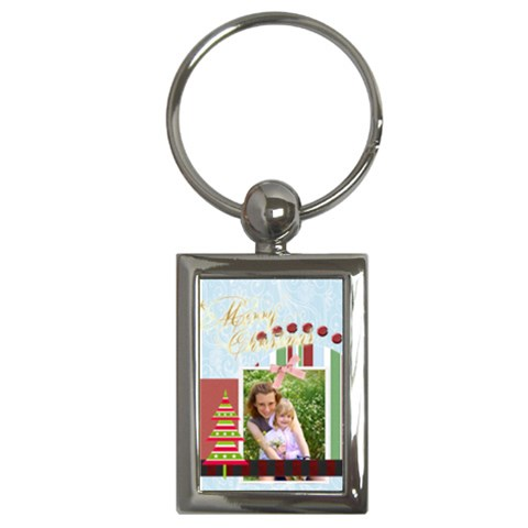 Christmas By Joely   Key Chain (rectangle)   Z58130gn9lat   Www Artscow Com Front