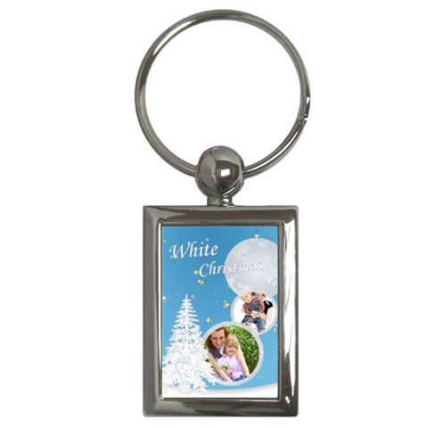 Christmas By Joely   Key Chain (rectangle)   2riogqdw65qf   Www Artscow Com Front