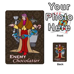 Enemychocolate By Bernard Donohue   Playing Cards 54 Designs   W80dba5fhsm3   Www Artscow Com Back