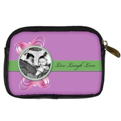 Live,laugh,love By Brookieadkins Yahoo Com   Digital Camera Leather Case   5tkb97bh5jbt   Www Artscow Com Back