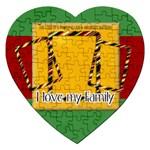 family - Jigsaw Puzzle (Heart)