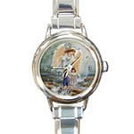 ANGELS WATCHING OVER ME ROUND ITALIAN CHARM WATCH