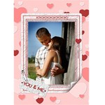 You and Me Valentine Card - Greeting Card 5  x 7