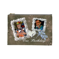 Our Birthdays By Karen   Cosmetic Bag (large)   Wwgl0ukh6ws1   Www Artscow Com Front