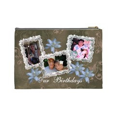 Our Birthdays By Karen   Cosmetic Bag (large)   Wwgl0ukh6ws1   Www Artscow Com Back
