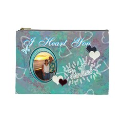 Love You This Much By Karen   Cosmetic Bag (large)   Lw7l6z6lo84j   Www Artscow Com Front
