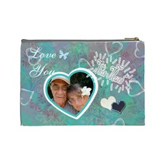 Love You This Much By Karen   Cosmetic Bag (large)   Lw7l6z6lo84j   Www Artscow Com Back