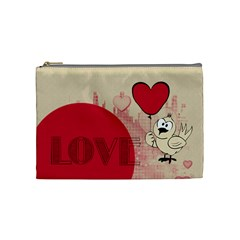 Love   Cosmetic Bag By Carmensita   Cosmetic Bag (medium)   Nnz9izuahuv6   Www Artscow Com Front
