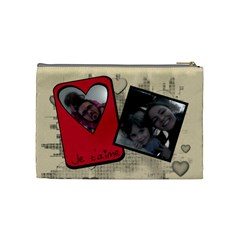 Love   Cosmetic Bag By Carmensita   Cosmetic Bag (medium)   Nnz9izuahuv6   Www Artscow Com Back