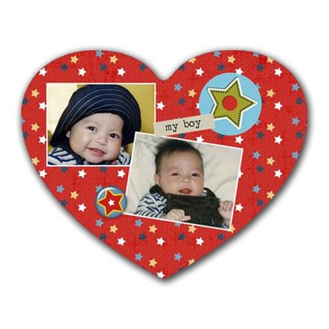 Mousepad Heart My Boy  Stars By Jennyl   Heart Mousepad   Kdkqm16ijuv4   Www Artscow Com Front
