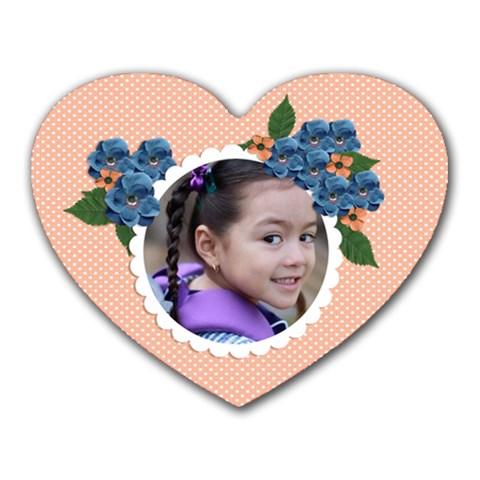 Mousepad Heart  Violets By Jennyl   Heart Mousepad   Csjb6nqzwand   Www Artscow Com Front