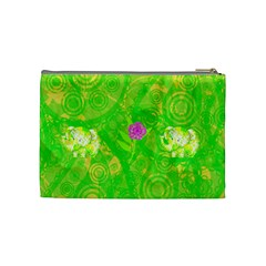 Floral Fun Medium Cosmetic Case By Joan T   Cosmetic Bag (medium)   Jmn6dai1sff4   Www Artscow Com Back