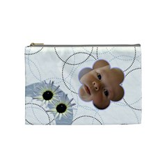 White Daisy Medium Cosmetic Case By Joan T   Cosmetic Bag (medium)   97sy1uxgu4d7   Www Artscow Com Front