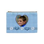 Baby Blue Medium Cosmetic Case - Cosmetic Bag (Medium)