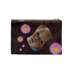 Pink Daisy Medium Cosmetic Case By Joan T   Cosmetic Bag (medium)   Seyt0vnfmhnu   Www Artscow Com Back