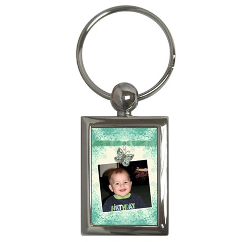 Butterfly Key Chain By Lil    Key Chain (rectangle)   Smo1ldsk452z   Www Artscow Com Front