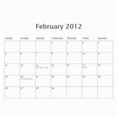 18 Mo Calender By Jan Cockreham   Wall Calendar 11  X 8 5  (18 Months)   X4i8nw6r7xlx   Www Artscow Com Feb 2012