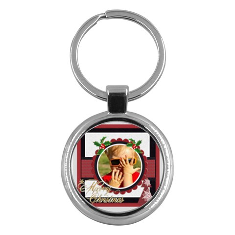 Xmas By Joely   Key Chain (round)   Sl287sevwchi   Www Artscow Com Front