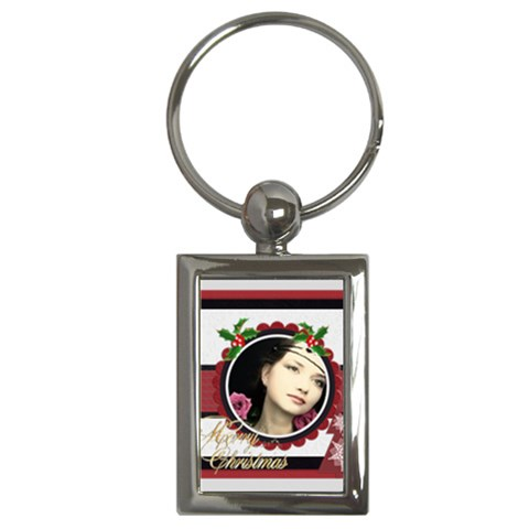 Xmas By Joely   Key Chain (rectangle)   Zpsab1fx48h7   Www Artscow Com Front