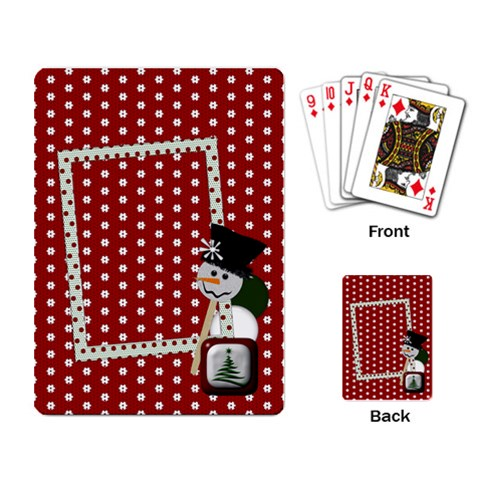 Christmas Playing Cards 1001 By Lisa Minor   Playing Cards Single Design   Xt9a396jo56l   Www Artscow Com Back