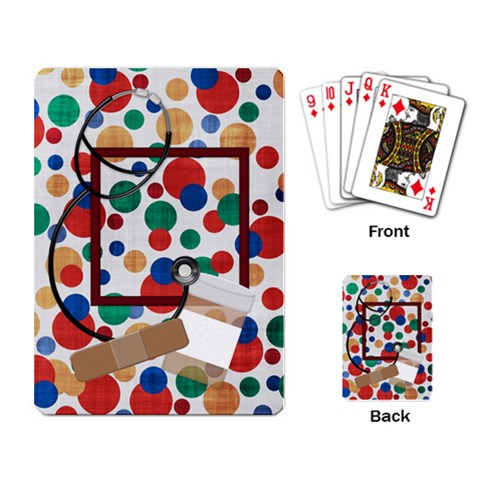 Playing Card All Better 1001 By Lisa Minor   Playing Cards Single Design   Jp10xl8d8p8u   Www Artscow Com Back