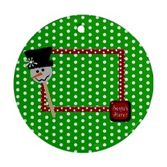 Ornament Christmas 1002 By Lisa Minor   Round Ornament (two Sides)   L9ry2s3m2pbg   Www Artscow Com Front