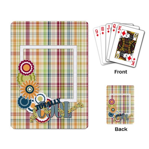 Playing Cards Totally Cool 1001 By Lisa Minor   Playing Cards Single Design   Ylj52h062qv1   Www Artscow Com Back