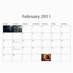 Lotr Calendar By Andie   Wall Calendar 11  X 8 5  (12 Months)   Rncmi9w3l8rz   Www Artscow Com Feb 2011
