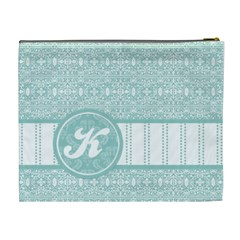 Tiffany Blue Monogram Xl Cosmetic Bag By Klh   Cosmetic Bag (xl)   Pui3706lxc75   Www Artscow Com Back