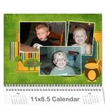 FINISHED CALENDAR - Wall Calendar 11  x 8.5  (12-Months)