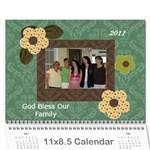 moms calandar - Wall Calendar 11  x 8.5  (12-Months)